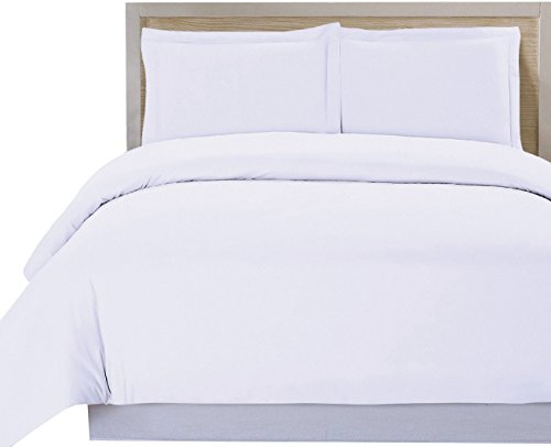 Utopia Bedding 3 Piece Duvet Cover Set (King, White) Duvet Cover plus 2 Pillow Shams, Luxury Soft Hotel Quality Wrinkle, Fade and Stain Resistant- by (Luxury King Duvet)