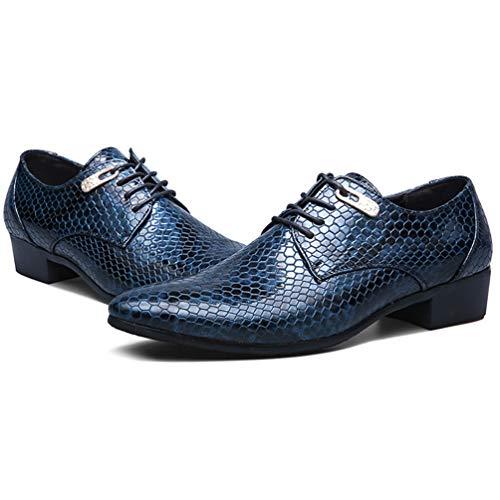Zapatos Arriba Oxford Azul De Punta De De Hombres Casual Los Vestido De Barco Atan Novia Los Negocios Zapatos Zapatos De Hombres De para T6w05pSxqB