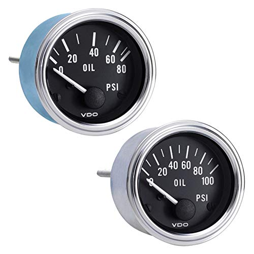 Vdo Instruments Semi Truck Electrical Oil Pressure Gauge Series 1