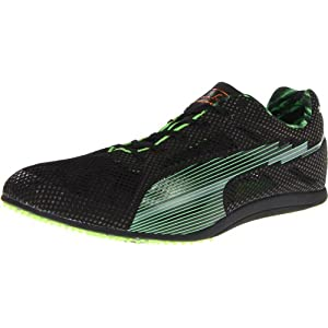 Puma Bolt Evospeed Long Dist Track Shoe,Black/Fluorescent Green,12 D US