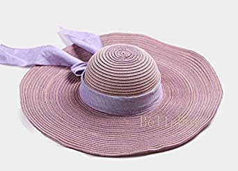 Summer travel straw hat shade sunscreen female sea beach bowknot sun hat