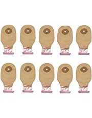 TOYANDONA 10pcs Colostomy Bag One Piece Drainable Pouches Disposable Ostomy Bags with Hook and Loop Closure for Ileostomy Stoma Care Ostomy Supplies