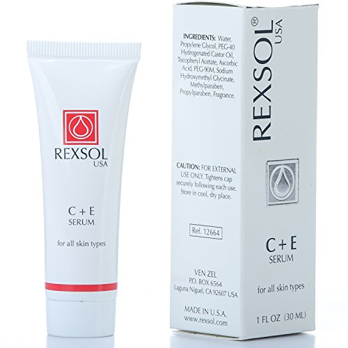 REXSOL C + E Serum | Contains Vitamin C & Vitamin E | Helps minimize the appearance of first signs of aging | Enhances skin's youthful appearance (30 ml/ 1 fl oz)