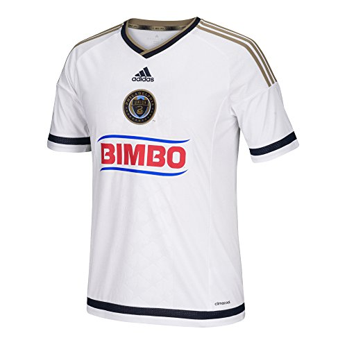 fan products of MLS Philadelphia Union Men's Replica Short Sleeve Jersey, Large, White