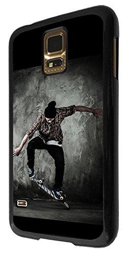 003397 - Skate boarding cool moves Design Samsung Galaxy S5 Mini Coque Fashion Trend Case Coque Protection Cover plastique et métal - Noir