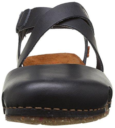 ART CRETA - Sandalias de vestir de cuero para mujer negro - negro