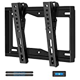 "Mounting Dream Tilt TV Wall Mount Bracket for Most 17-42 Inch TVs up to VESA 200 x 200mm and 44 LBS, Fits for single/ 8"" wood studs, Low Profile and Space Saving MD2268-S"