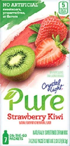 Crystal Light Pure Strawberry Kiwi Drink Mix (Pack of 36)