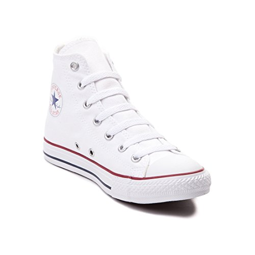 CONVERSE ALL STAR HI BASKETBALL SHOES (7 D(M), optical white.) Converse Chucks Hi
