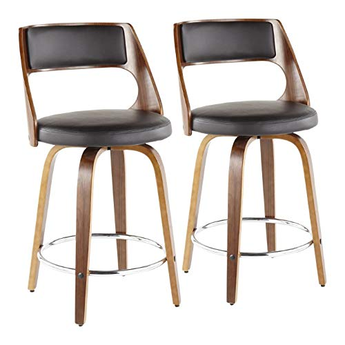 35.5 in. Mid-century modern Counter Stool - Set of 2