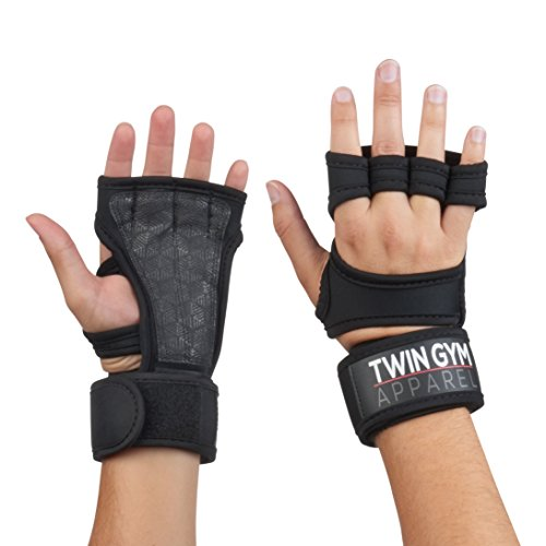 Cross Training & Weight Lifting Gloves with Wrist Support Wraps for Men & Women – Best Workout Gloves for CrossFit WOD & Gym Fitness – Black Gloves Perfect for Pull ups + 3 BONUS Ebooks & Bag (Size L)