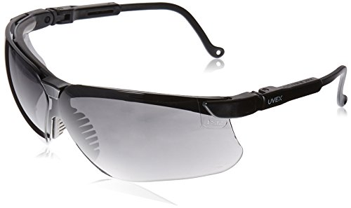 Uvex S3212X Genesis Safety Eyewear, Black Frame, Dark Gray UV Extreme Anti-Fog - Dark Nose Bridge