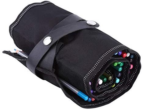 Estuche para lápices con rollos, 36/48 ranuras, tela enrollable, bolso para estuches, estuche para bolígrafos, bolsa para la escuela, escuela, arte, artesanía(#2): Amazon.es: Hogar