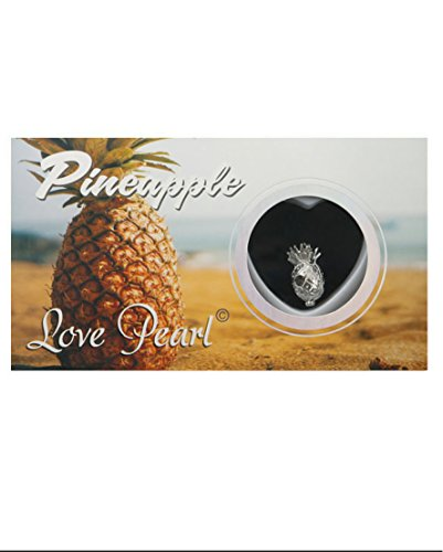 (Pineapple Necklace Wish Pearl Gift Love Pearl Necklace with Genuine Pearl Inside Pack of One)