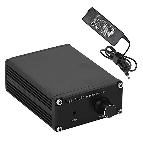 Subwoofer Amplifier Receiver 100Watt Mini Hi-Fi Digital Class D Integrated Stereo Audio Amp for Sub Bass + Power Supply TP-01 (Boos Home Theater)