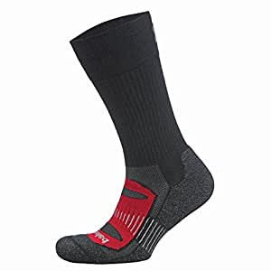 Balega Blister Resist Crew Socks For Men and Women (1-Pair) (2017 Model), Black/Red, Small
