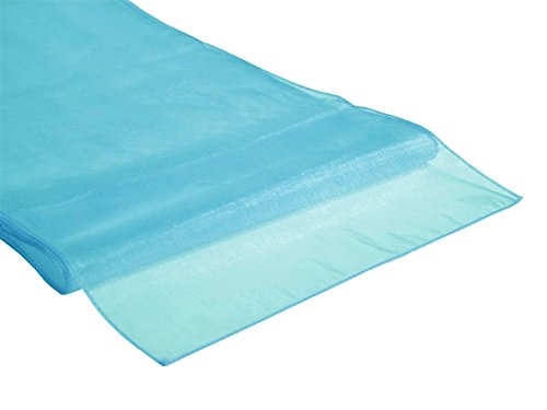 Bit Fly 10PCS 30*275CM Organza Roll Fabric Wedding Party Decor Chair Bows Table Runner Sash 12