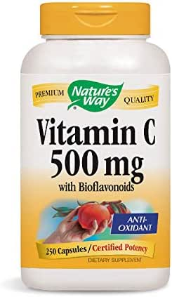 Nature's Way Vitamin C with Rose Hips; 1000 mg per Serving; 250 Capsules