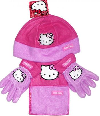 Hello Kitty Winter Warmer Set - Includes Hat, Scarf and - Scarf Kitty Hello