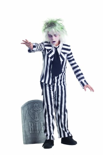 White Graveyard Ghost Costume (Party King Graveyard Ghost Child Costume, 8-12)