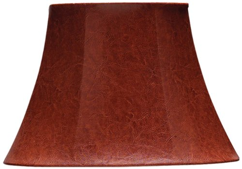 Cal Lighting SH-7107 9-1/2-Inch Side Leatherette Shade, Oval