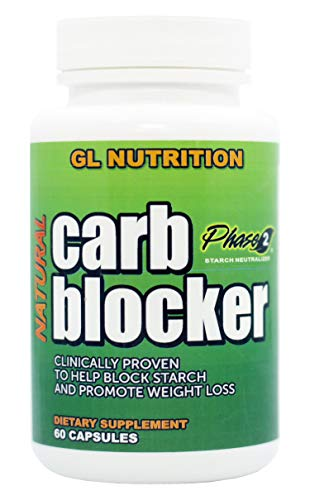 Natural Carb Blocker by GL Nutrition | Naturally Supports Weight Loss, Appetite Control, Stops Carbs & Starch, Promotes…