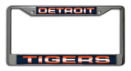 MLB Detroit Tigers Laser Chrome License Plate ()