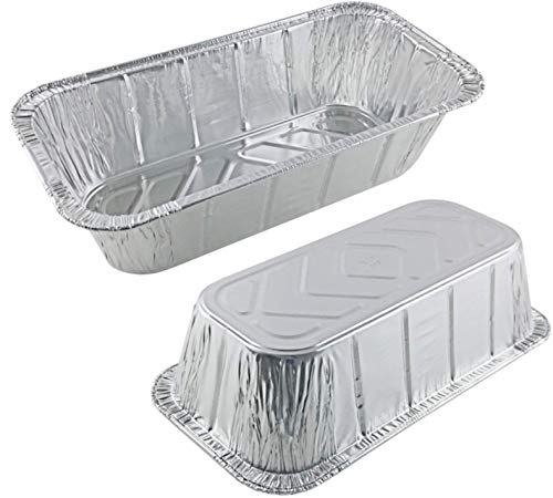 35 Pack – 2LB Loaf Pans, Aluminum Loaf Pans, Bread Pans, Meatloaf Pans l Cake Pan, Foil Loaf Pans, Disposable Aluminum, l Top bakery's choice Tin Pans - Standard Size, 2 Pounds - 8.5
