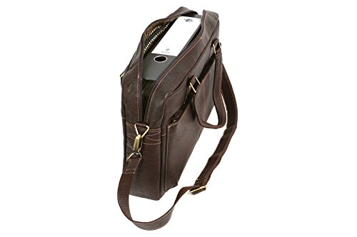 Stanford - Laptoptasche by CB in Echt-Leder, dunkelbraun - LEAS Classic Bags