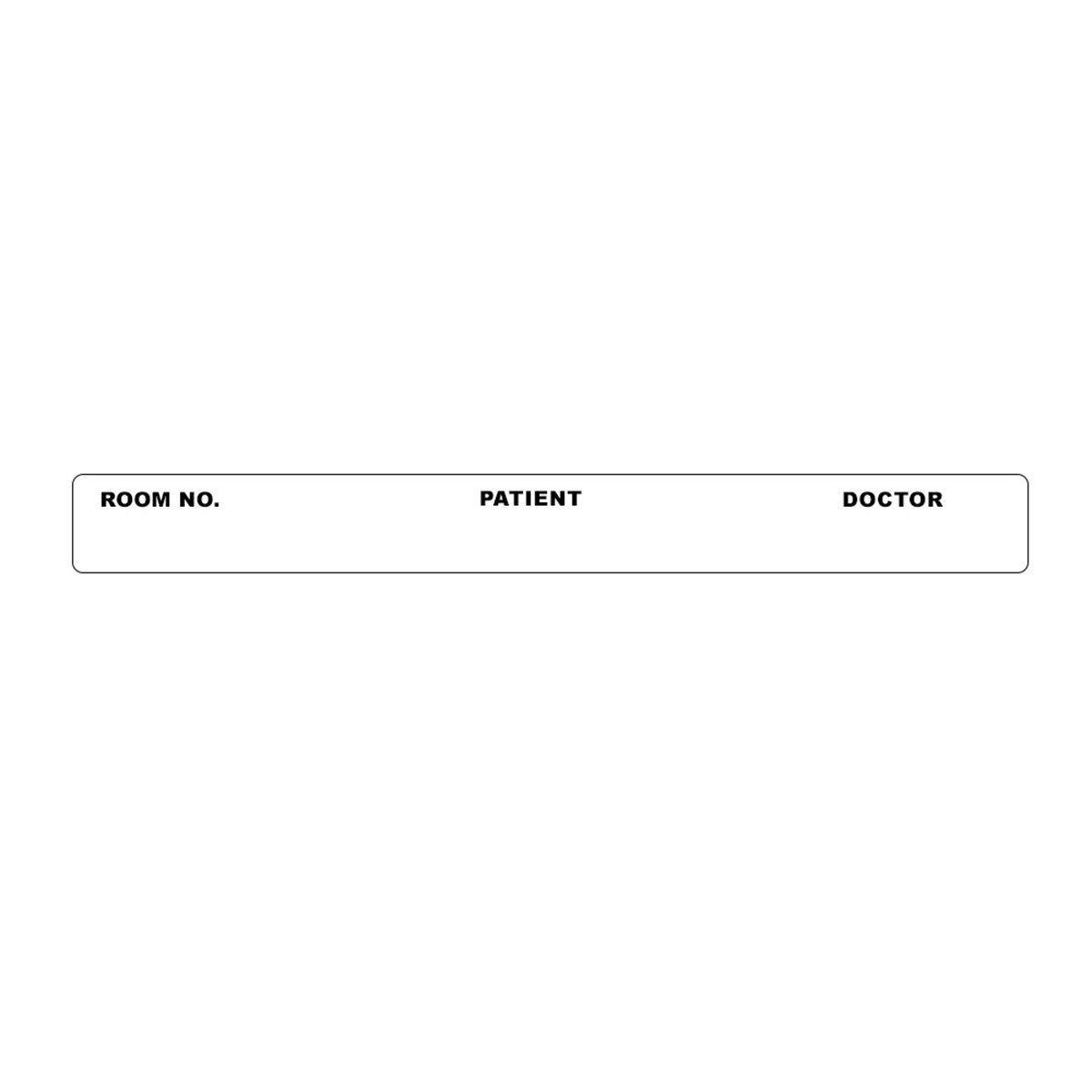 PDC Healthcare 59704824 Removable Label Paper, Room Number/Patient, 4'' x 3/8'', White (Pack of 500)