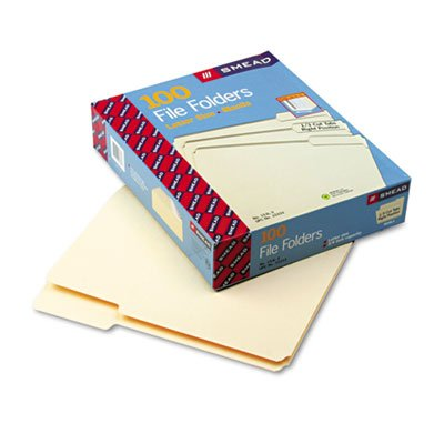 Smead Products - Smead - File Folders, 1/3 Cut 3rd Position,1-Ply Top Tab, Letter, Manila, 100/Box - Sold As 1 Box - An office staple. - Single-ply tops. - 11 pt. Manila. - Scored for 3/4