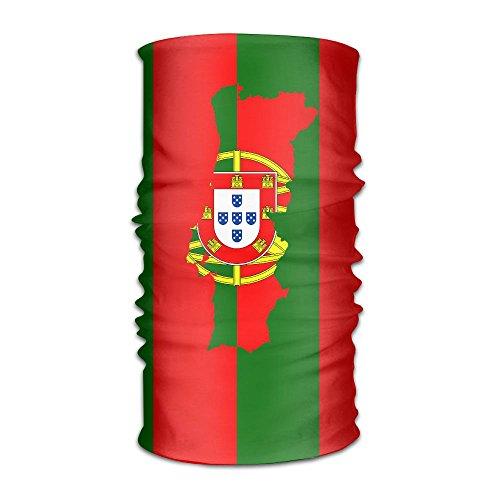 Portugal Map Flag Headwear Bandanas Headscarf Helmet Liner Head Wrap Scarf by WOOD-RAIN