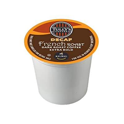 Tully's Coffee Decaffeinated French Roast, K-Cup for Keurig Brewers
