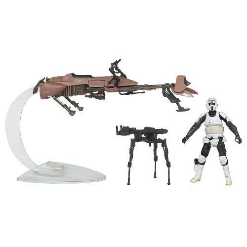- Hasbro Star Wars Speeder Biker with Scout Trooper Toys R Us Exclusive 2012 by Hasbro