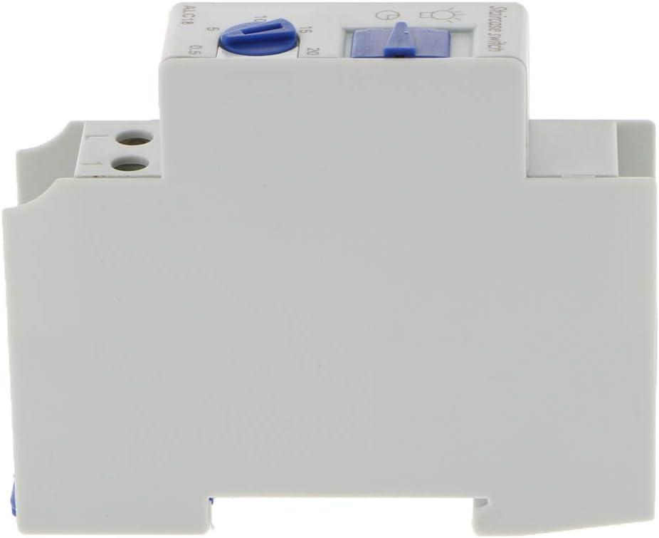 Interruptor de Relé de Tiempo Instalación de Carril Din Temporizador Programable de Escalera Accesorios: Amazon.es: Bricolaje y herramientas