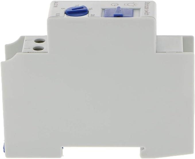 Interruptor de Relé de Tiempo Instalación de Carril Din ...