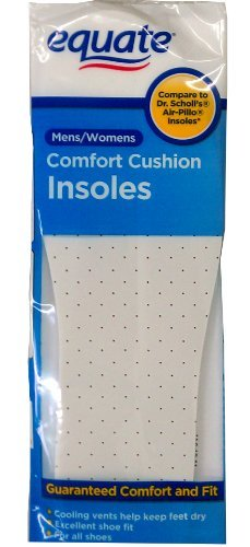 (Comfort Cushion Insoles for Men and Women by Equate One Pair Compare to Dr. Scholl's Air-Pillo Insoles)