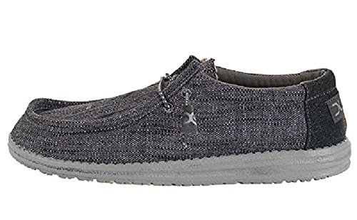 Hey Dude Men's Wally Woven Carbon (11 D(M) US)