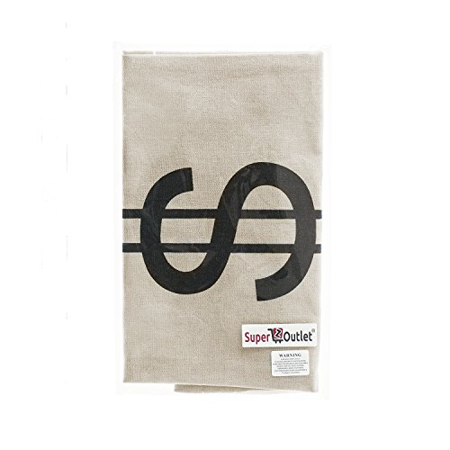 Large-Canvas-Natural-Money-Bag-Pouch-with-Drawstring-Closure-and-Dollar-Sign-Design-for-Toy-Party-Favors-Bank-Robber-Cowboy-Pirate-Theme-Carrying-Case-Sack