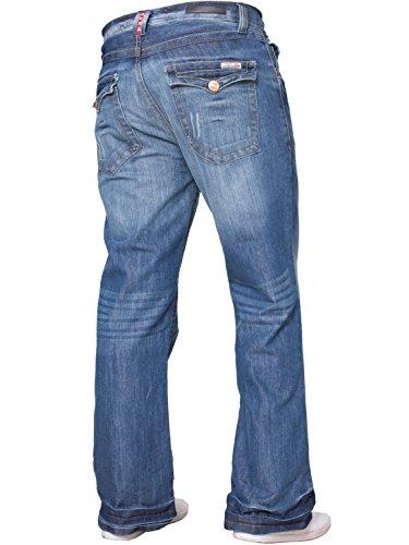 Tutte Svasato Di Svasati Vita Gamba Design Lavaggio Taglie Jeans Nuovo Denim Da Larga Beige Blu Uomo Basic Apt Y0wOqO