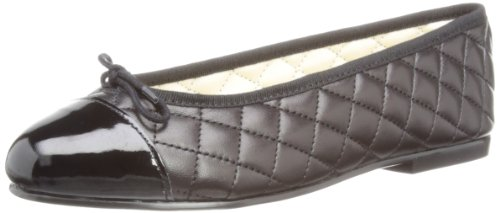 French Sole Simple Smooth Leather - Bailarinas para mujer negro - negro