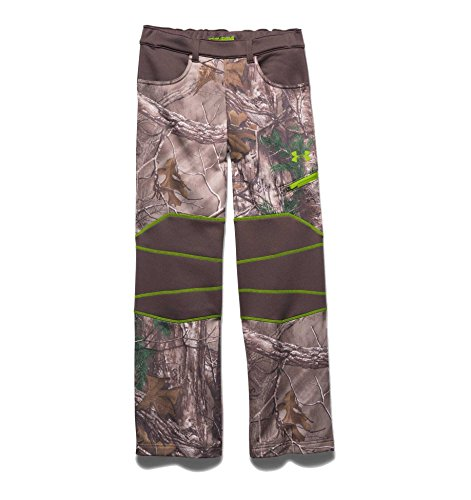 Under Armour Boy's UA ColdGear Infrared Scent Control Fleece Pants Realtree Ap Xtra / Velocity Large