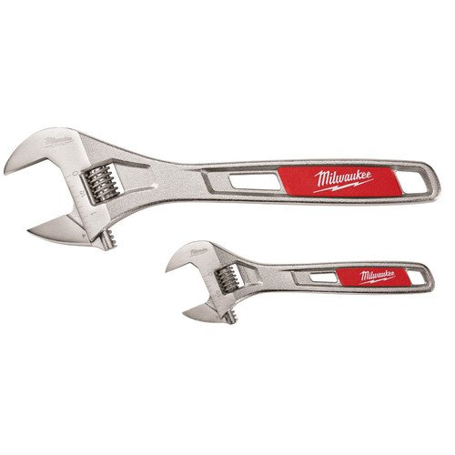 Milwaukee 48-22-7400 2-Piece 6 in. and 10 in. Adjustable Wrench Set