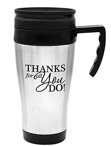 12-Piece Thank You Stainless Tumblers/Stainless Steel Thank You Travel Mugs/Free Shipping/Thank You/Corporate Thank You Travel Mugs/Nurse's Staff Gifts/Holiday Client Mugs/Employee Appreciation by CGS BRANDING