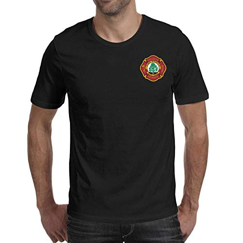 DXQIANG Village of Sussex Fire & Rescue Design Men's Novelty T Shirt Short Sleeve Tee Tops