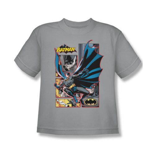 Justice League - Batman Panels Jugend T-Shirt in Silber Silver
