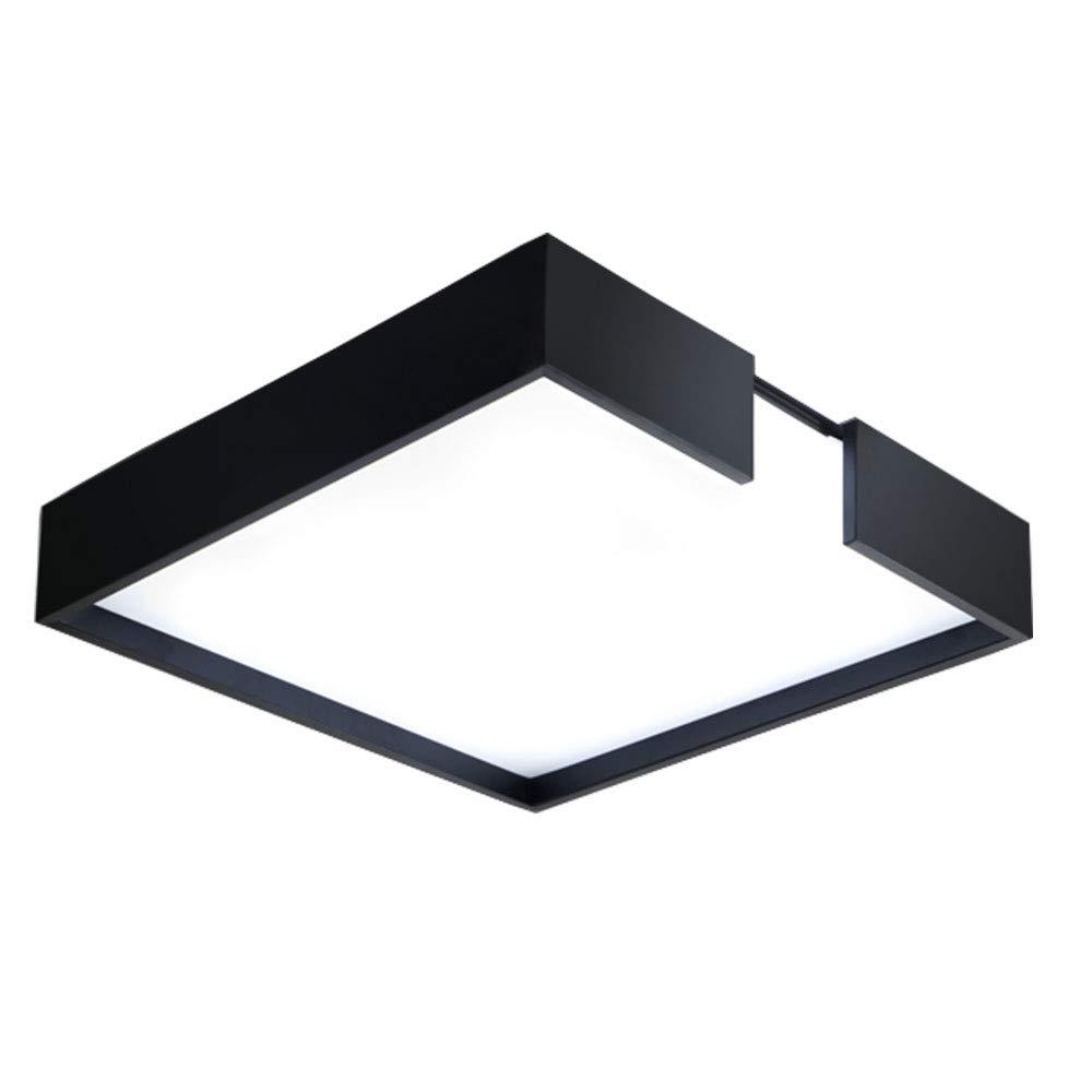 Wandun Deckenleuchte, Moderne minimalistische LED Deckenleuchte Nordic Wohnzimmer Schlafzimmer Lampe LED einfache Atmosphäre quadratische Lampe (Farbe   schwarz Weiß Light, Größe   41  15cm)