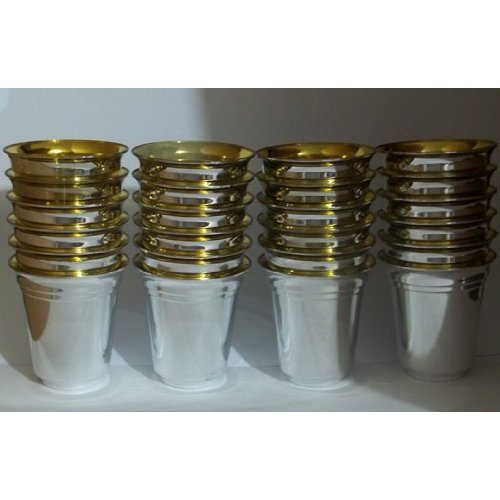 Silver Like Shot Cups Heavyweight Plastic 2 oz. (24 Cups)