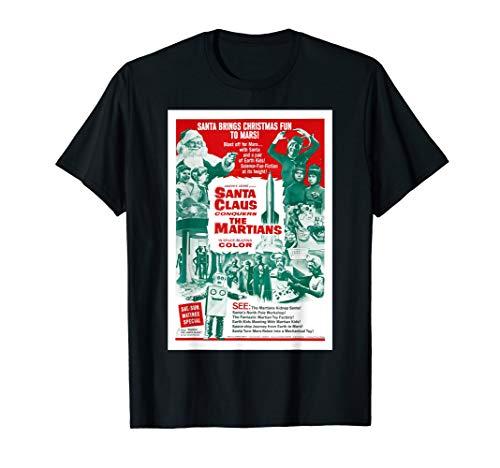 Conquers Martians Movie Poster - Santa Claus Conquers the Martians T-Shirt Movie Poster
