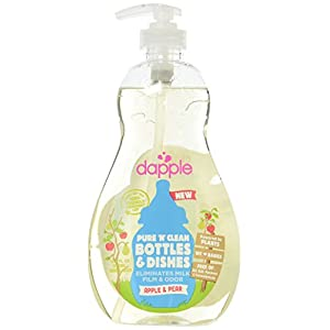 Dapple Pure 'N' Clean Baby Bottle and Dish Liquid, Apple-Pear, Clear, 16.9 Ounce
